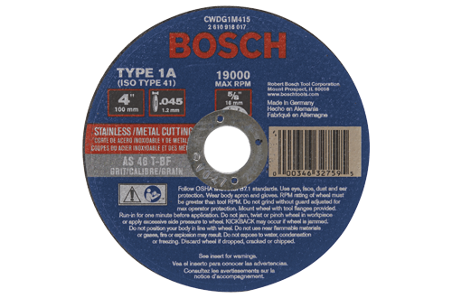 Bosch Ginding Wheel