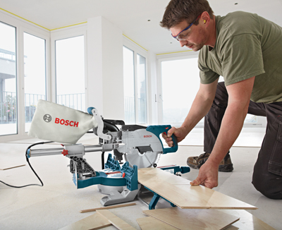 Bosch Sliding Compound Miter Saw CM8S flooring