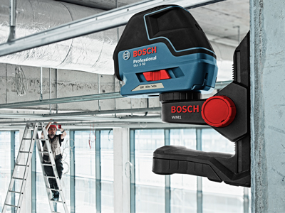 Bosch Three Line Laser with Layout Beam GLL 3-50 Drop Ceiling Target