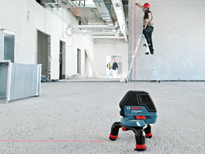 Bosch Three Line Laser with Layout Beam GLL 3-50_Jobsite (EN)