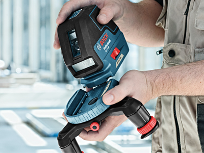 Bosch Three Line Laser with Layout Beam GLL 3-50_Mount Height Adjustment