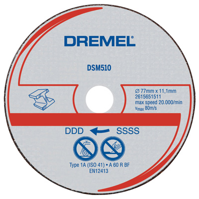 http://mdm.boschwebservices.com/files/Dremel Metal Cut-off Wheel DSM510C-RW (AU, EN, ES) r38640v14.jpg