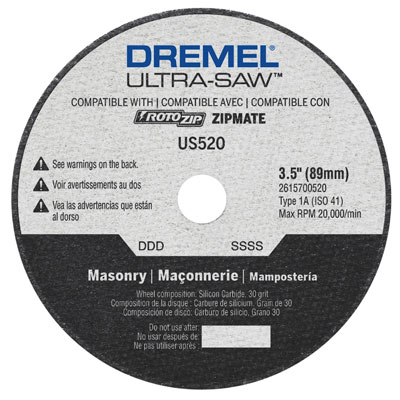 Dremel US520 Masonry Cut-Off Wheel