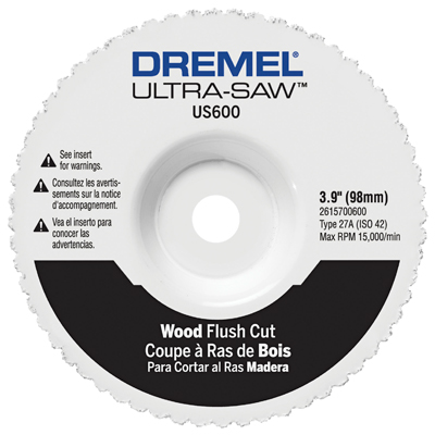 Dremel US600 Carbide Wood Flush Cutting Wheel