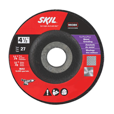 4-1/2 In. x 1/4 In. Bonded Abrasive Wheel