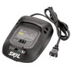 3 hour charger using the Skil Smartcharge™ System.  Accepts both 14.4V Li-Ion and 18V Li-Ion battery packs