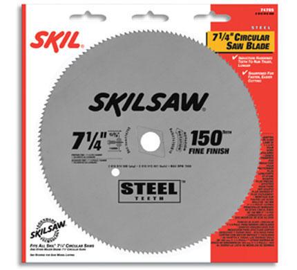 "7-1/4"" Diameter Steel Blade;150T; Application: Fine Finishing"