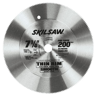 "7-1/4"" Diameter Steel Blade; 200T; Application: Plywood and Panel"