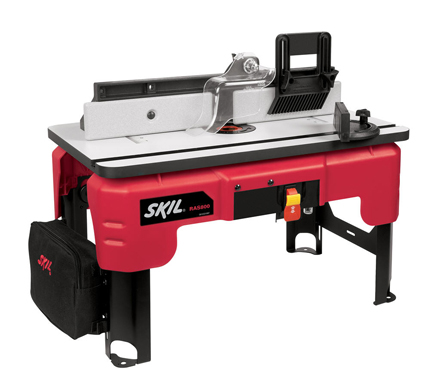 RAS800 | Pre-assembled compact design router table.  Easy set-up.  Legs fold for storage.