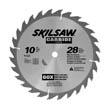 10&quot; Diameter Carbide Blade; 28T; Application: Ripping; Optimized for Table Saw