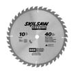 "10"" Diameter Carbide Blade; 40T; Application: Rip / Cross Cuts; Optimized for Table / Miter Saw"