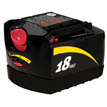 18V Slide Pack Battery -. Uses charger model SC118.  Fits tool models: 2887, 9350, 5850