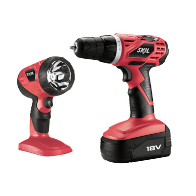18V Cordless Drill/Driver with Bonus Flashlight
