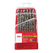21 pc high-speed steel drill bit set