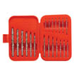 20 pc high-speed steel drill bit set