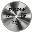 "10"" Diameter Carbide Blade; 200T; Application: FInishing Plywood and Panels; Optimized for Table Saw"
