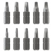 "10 pc 1"" screwdriver bit set"